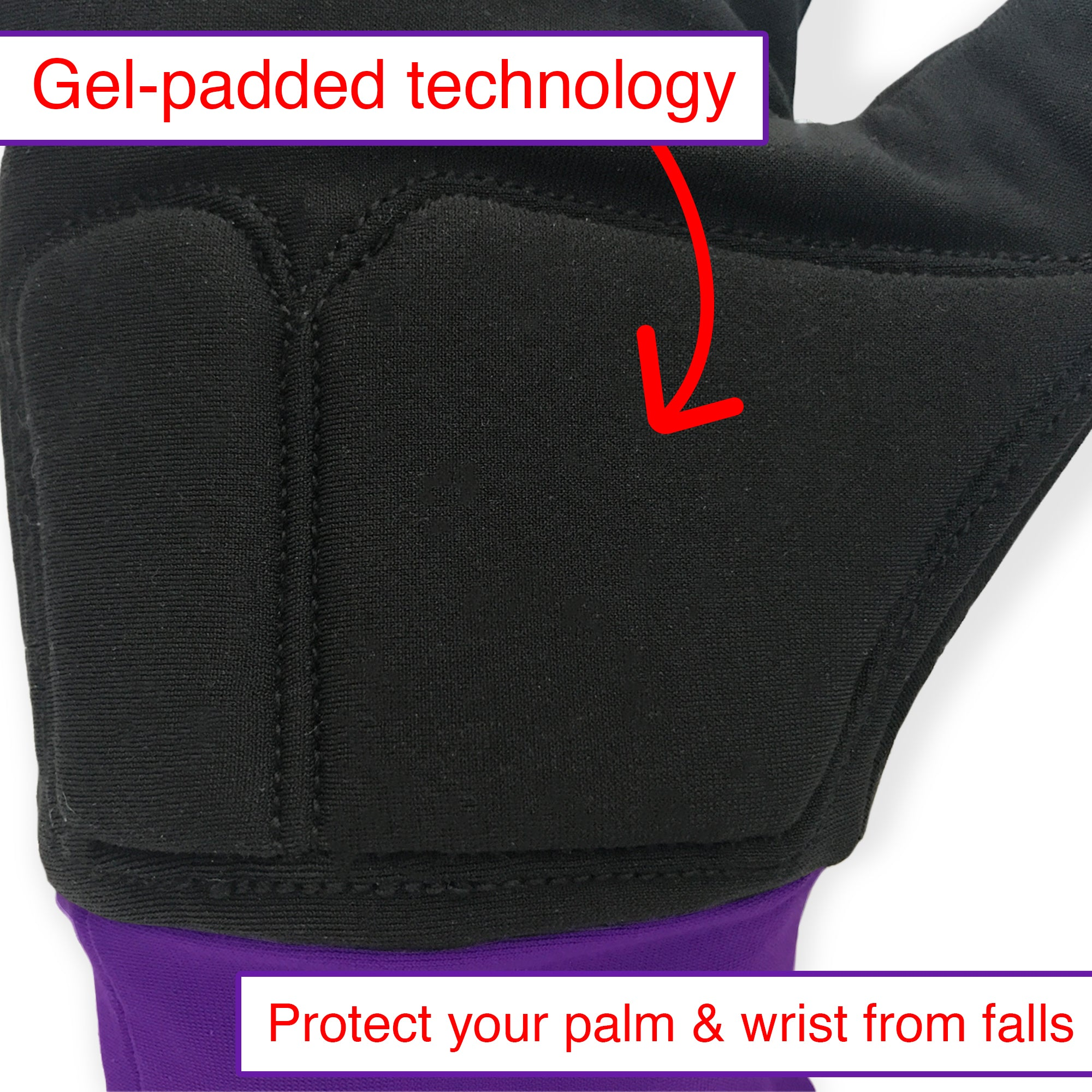 Water-resistant Gloves with Protective Padding, Touchscreen Fingertips, Fleece Lining