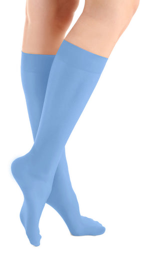 Ethereal Blue Microfiber Knee High Tights