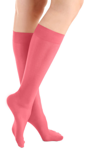 Strawberry Pink Microfiber Knee High Tights