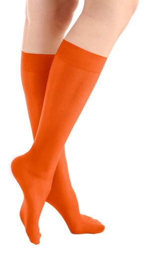 Orange Slice Microfiber Knee High Tights