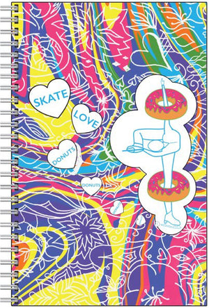 Skate, Love, & Donuts Notebook