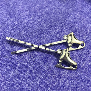 Figure Skate Sparkle Bobby Pin (2 Pack)