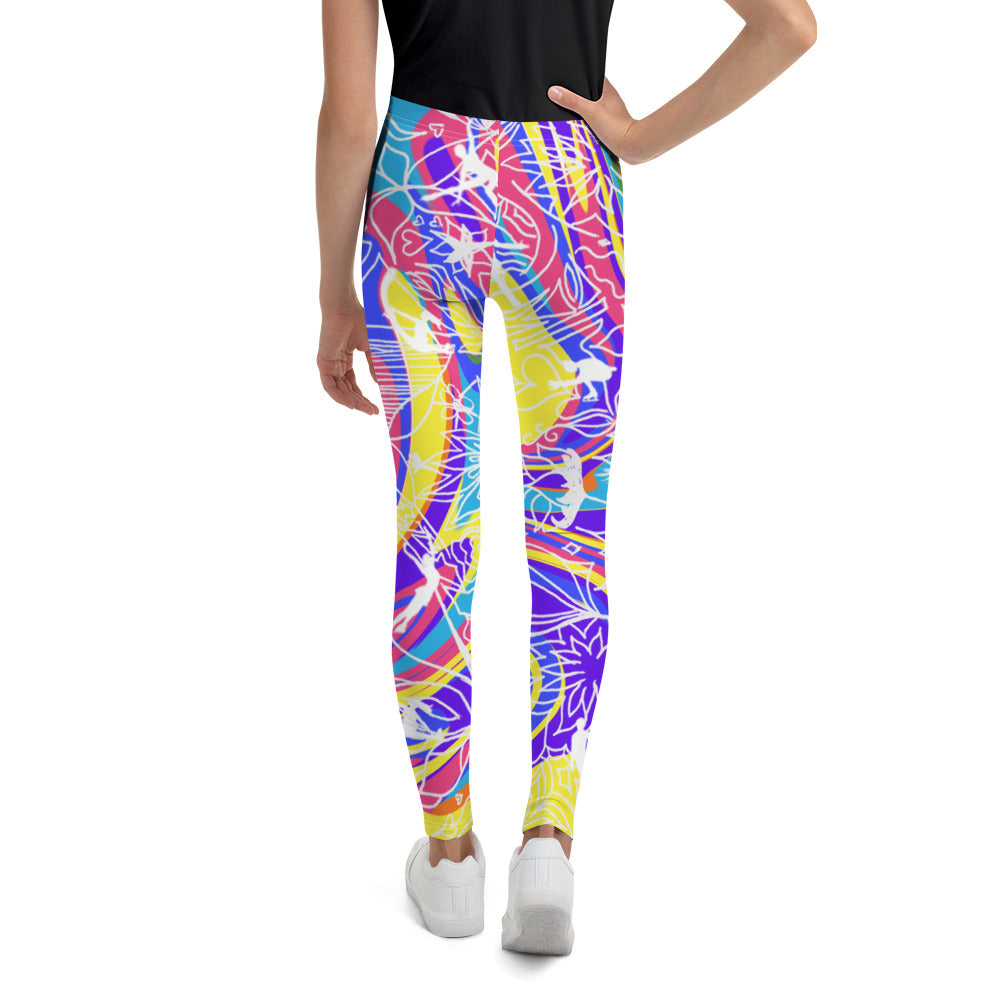 ColorFlow Skating Rainbow Youth Leggings