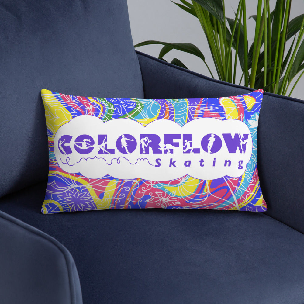 ColorFlow Skating Rainbow Pillow