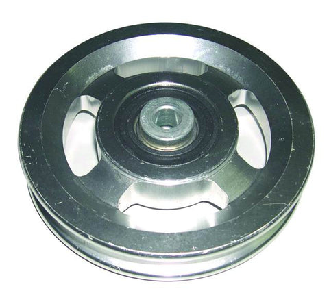 "Pulley – Aluminum 4.5 inch – 3/8"" Bore 1 inch Hub"
