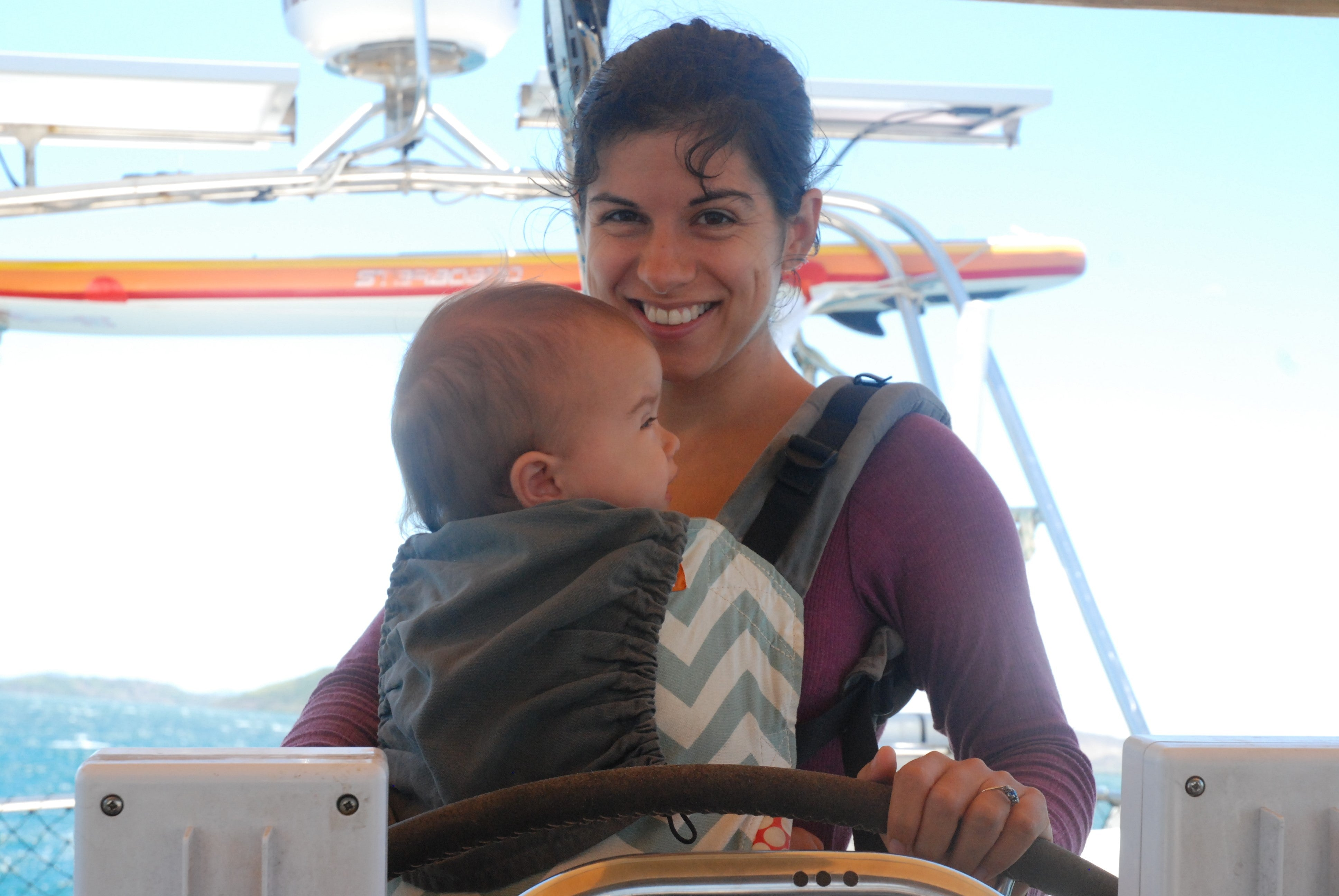 an ocean later babywearing gNappies