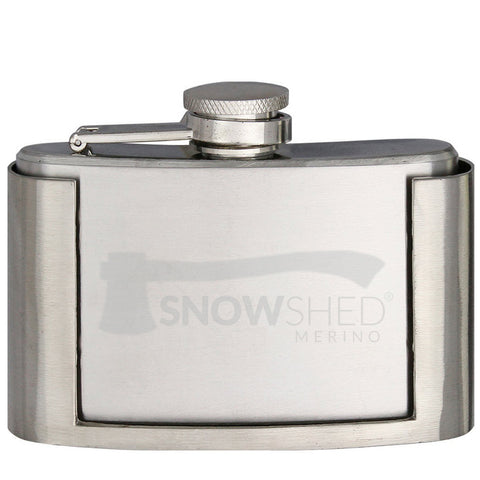 SNOWSHED® Whiskey Flask & Belt Buckle Holser - Snowshed merino LLC.  - 4