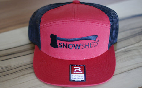 2-Tone Trucker Snapback (Red/Black)