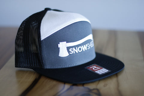 Snowshed axe logo trucker hat - snow shed