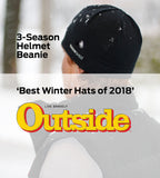 Helmet beanie featured by Outside Magazine in Merino wool by Snowshed - snow shed