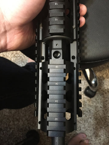 Quad Rail with A2 FSP Cutout Ruger AR-556 Modification