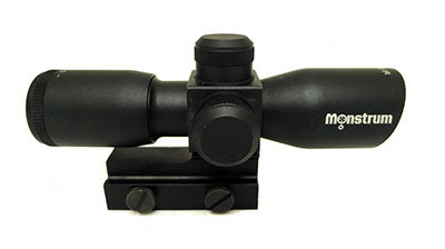 Monstrum Tactical 4x30 scope with rangefinder or mil-dot reticle