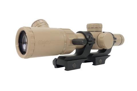 1-4x20 Rifle Scope - Illuminated Range Finder Reticle, Flat Dark Earth - Rifle Scopes - Monstrum Tactical - 4