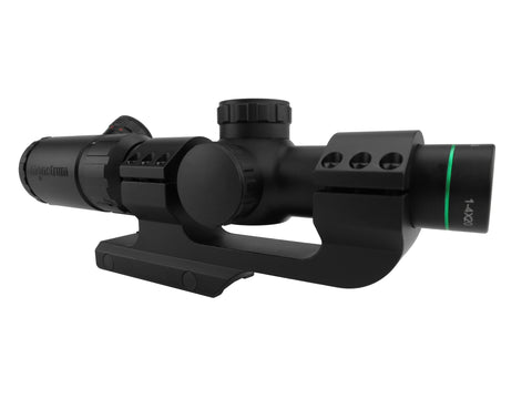 1-4x20 Rifle Scope - Illuminated Range Finder Reticle with Scope Mount
