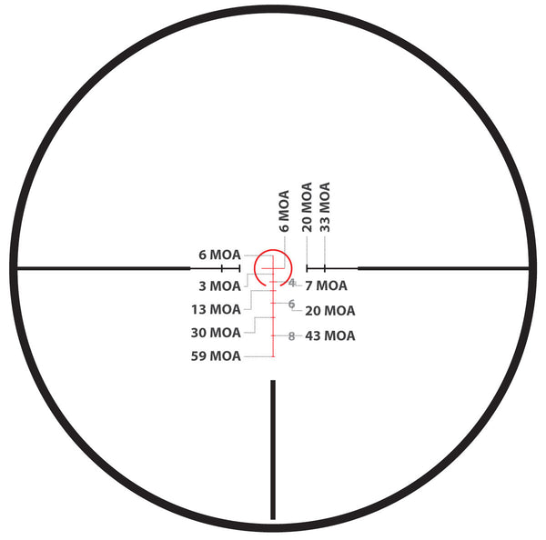 1-6x24 First Focal Plane Rifle Scope - Range Finder Reticle - Rifle Scopes - Monstrum Tactical - 6