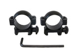 1 inch Rifle Scope Rings, Low Profile, Picatinny Rail Mount - Accessories - Monstrum Tactical