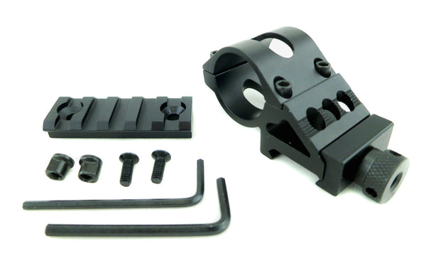 1 inch Offset Flashlight Rail Mount / Picatinny Rail for Keymod Systems - Accessories - Monstrum Tactical - 1