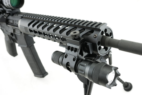 1 inch Offset Flashlight Rail Mount / Picatinny Rail for Keymod Systems - Accessories - Monstrum Tactical - 2