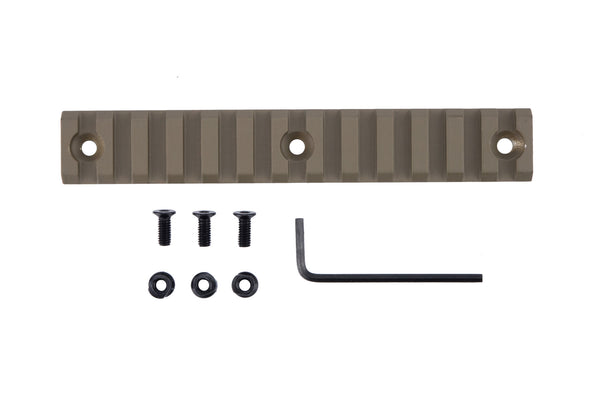 13 Slot/5.3 Inch Picatinny Rail Section for Keymod | Flat Dark Earth - Accessories - Monstrum Tactical - 1