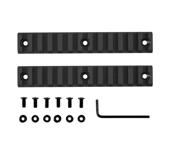13 Slot/5.3 Inch Picatinny Rail Section for Keymod | Black - Accessories - Monstrum Tactical - 3