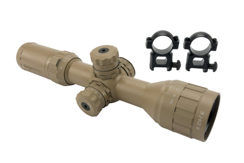 3-9x32 Rifle Scope - Adjustable Objective Lens and Range Finder Reticle, Flat Dark Earth - Rifle Scopes - Monstrum Tactical - 1