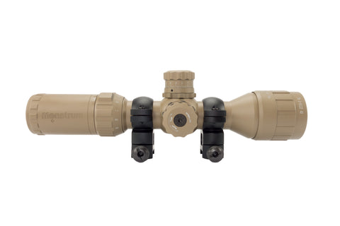 3-9x32 Rifle Scope - Adjustable Objective Lens and Range Finder Reticle, Flat Dark Earth - Rifle Scopes - Monstrum Tactical - 2