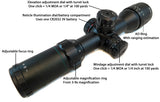 3-9x32 Rifle Scope - Adjustable Objective Lens and Range Finder Reticle - Rifle Scopes - Monstrum Tactical - 5