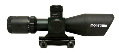 3-9x40 Tactical Rifle Scope - Range Finder Reticle - Rifle Scopes - Monstrum Tactical - 1