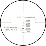 4x30 Compact Tactical Rifle Scope - Range Finder Reticle, Flat Dark Earth - Rifle Scopes - Monstrum Tactical - 5