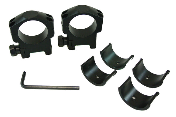 30 mm Rifle Scope Rings with Optional 1 inch inserts, Medium Profile, Picatinny Rail Mount - Accessories - Monstrum Tactical