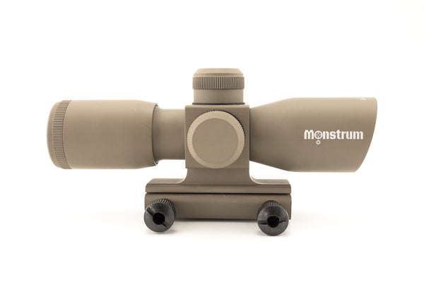 4x30 Compact Tactical Rifle Scope - Range Finder Reticle, Flat Dark Earth - Rifle Scopes - Monstrum Tactical - 1