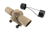 4x30 Compact Tactical Rifle Scope - Mil-Dot Reticle, Flat Dark Earth - Rifle Scopes - Monstrum Tactical - 3