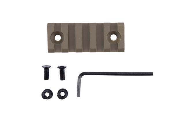5 Slot/2.2 Inch Picatinny Rail Section for Keymod | Flat Dark Earth - Accessories - Monstrum Tactical - 1