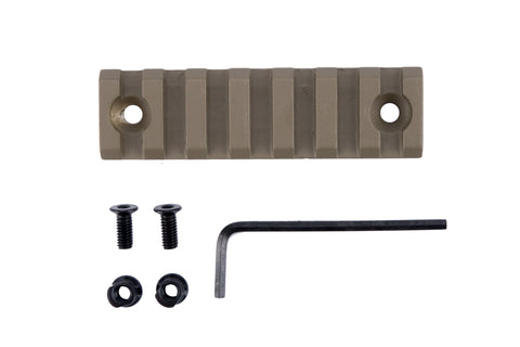 7 Slot/3 Inch Picatinny Rail Section for Keymod | Flat Dark Earth - Accessories - Monstrum Tactical - 1