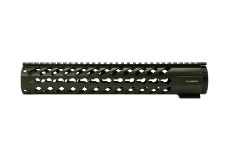 AR-15 Keymod Rail Handguard - 12 inch | Free Float | Olive Drab Green - Quad Rails - Monstrum Tactical - 2