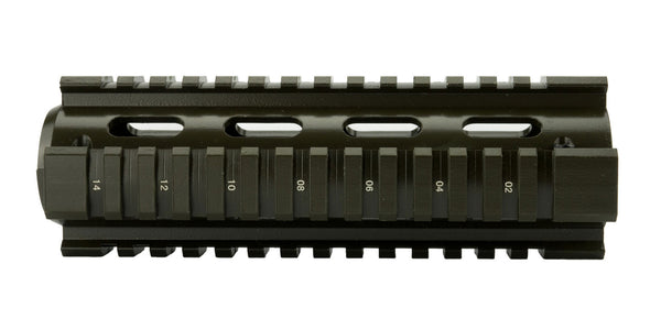 AR-15 Quad Rail Handguard - Carbine Length | Drop-In | Olive Drab Green - Quad Rails - Monstrum Tactical - 1