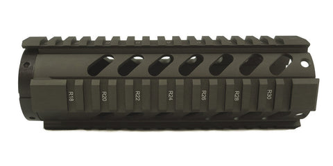 AR-15 Quad Rail Handguard - 7 inch | Free Float | Olive Drab Green - Quad Rails - Monstrum Tactical - 1