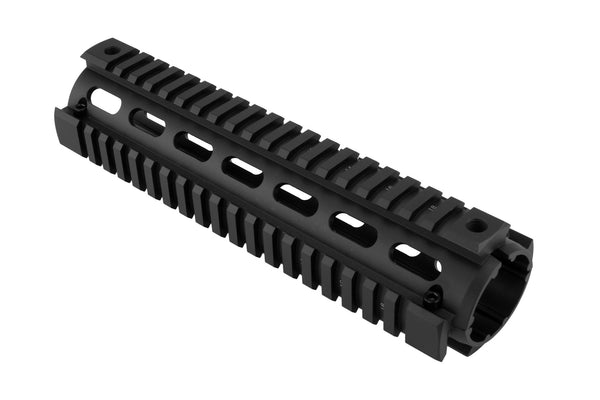 AR-15 Quad Rail Handguard - Mid Length | Drop-In | Black - Quad Rails - Monstrum Tactical