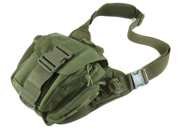 BP03 Side Carry Pack - Military Green - Tactical Gear - Monstrum Tactical - 1