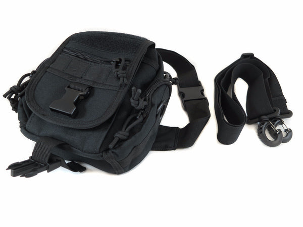 BP04 Combination MOLLE/Fanny/Sling Pack - Black - Tactical Gear - Monstrum Tactical - 1