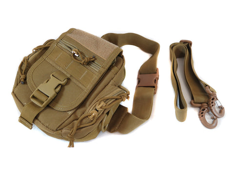 BP04 Combination MOLLE/Fanny/Sling Pack - Desert Tan - Tactical Gear - Monstrum Tactical - 1