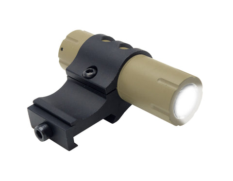 Ultra-Compact 100 Lumens LED Flashlight with Offset Rail Mount and Pressure Switch - FDE - Lights - Monstrum Tactical - 1