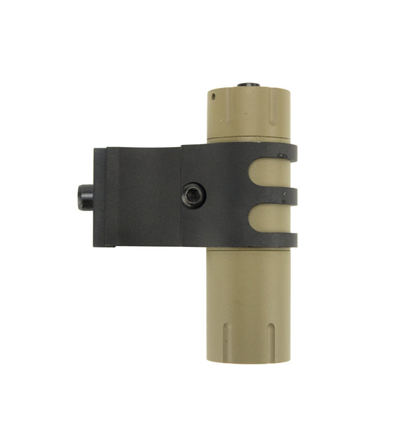 Ultra-Compact 100 Lumens LED Flashlight with Offset Rail Mount and Pressure Switch - FDE - Lights - Monstrum Tactical - 4
