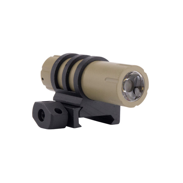 Ultra-Compact 100 Lumens LED Flashlight with Rail Mount, Pressure Switch - FDE