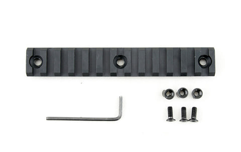 13 Slot/5.3 Inch Picatinny Rail Section for Keymod | Black - Accessories - Monstrum Tactical - 1