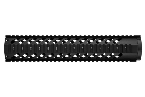 LR-308 Quad Rail Handguard - 12 inch | Free Float | Black
