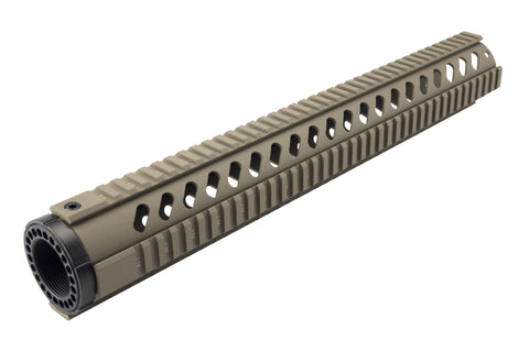 LR-308 Quad Rail Handguard - 16.5 inch | Free Float | Flat Dark Earth