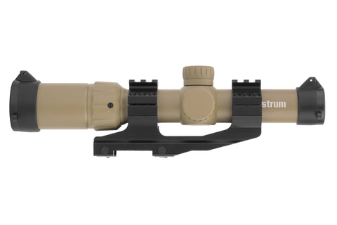 1.5-4x24 Tactical Rifle Scope - Range Finder Reticle - Flat Dark Earth
