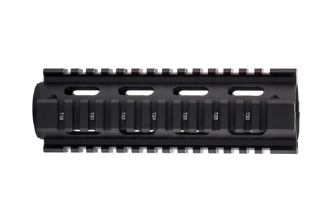 AR-15 Quad Rail Handguard - Carbine Length | Drop-In | Black
