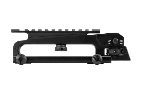 AR-15 Carry Handle with A2 Rear Sight and Optics Rail Mount - Black